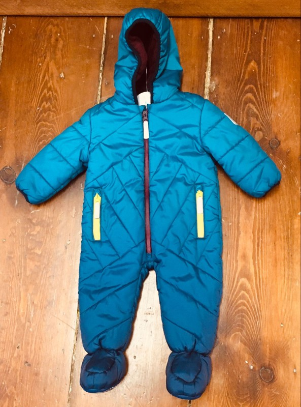 TED BAKER SNOWSUIT GREEN/BLUE 6-9M