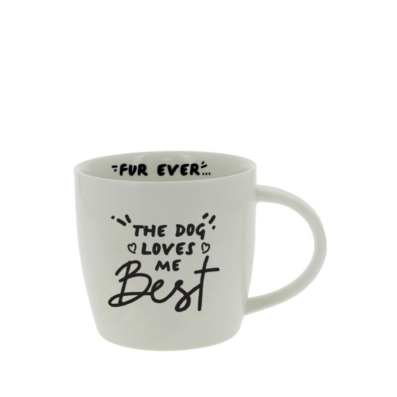 The dog loves me best mug