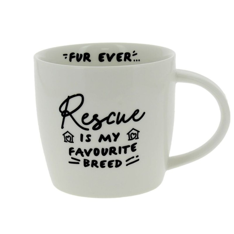 Rescue is my favourite breed mug