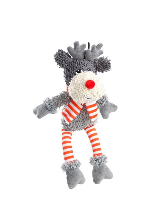 Silent Night (squeaker-free) Christmas reindeer/elf