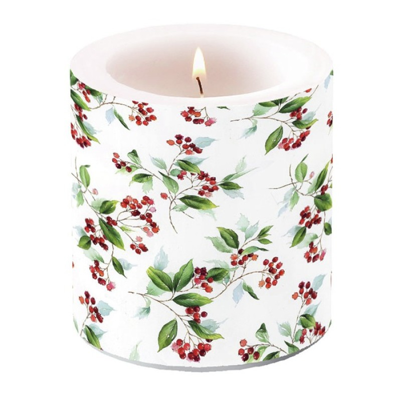 Small candle winter foliage