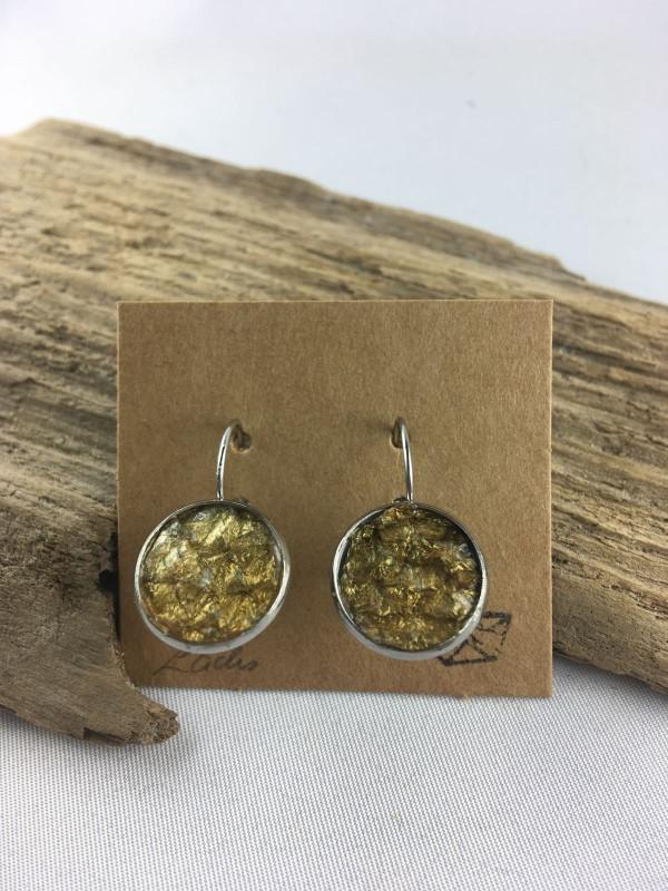 Fischereidesign  - Fischhaut Ohrringe Silber