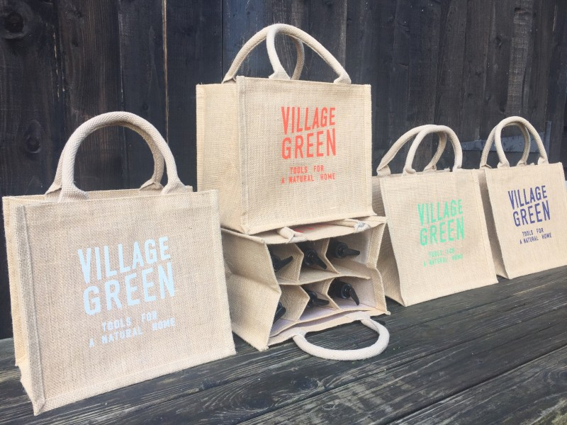 Jute Village Green Bag