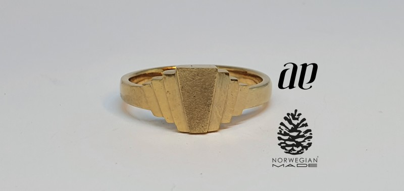 Art deco ring i sølv