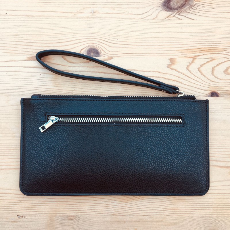 Skinny Wristlet Purse - Black