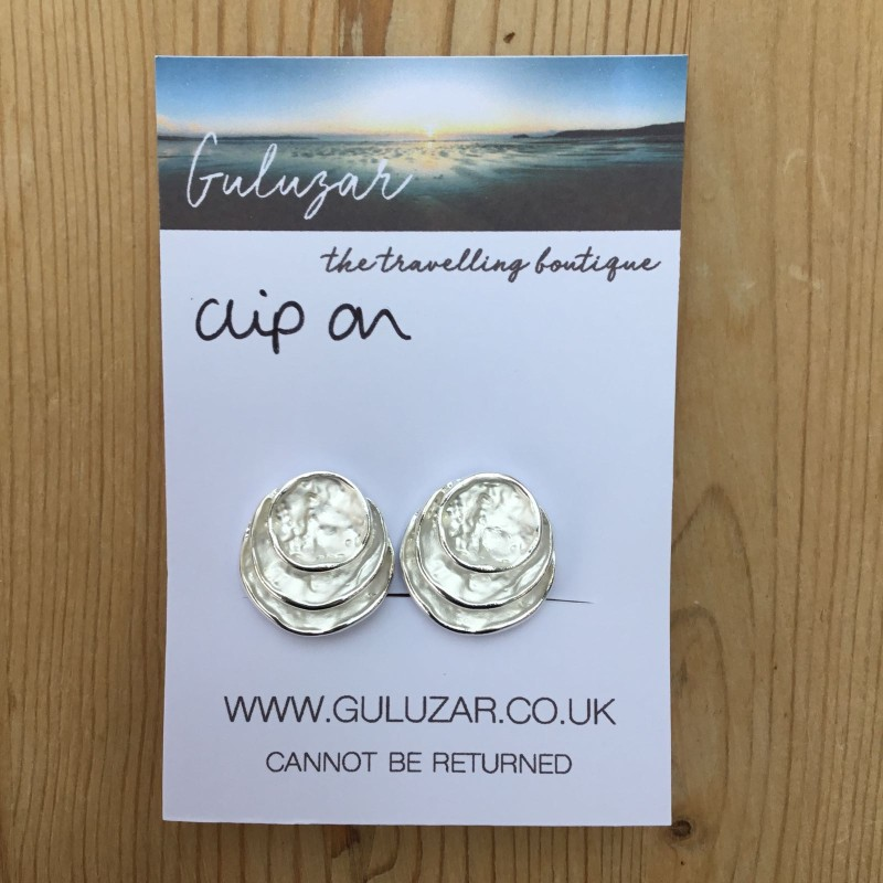 Clip On Layer Oval Earrings