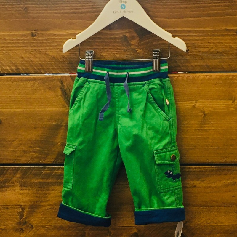 PICCALILLY GREEN/BLUE TROUSERS 6-12M