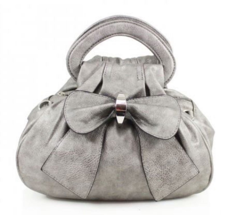 Bow Bag - Pewter