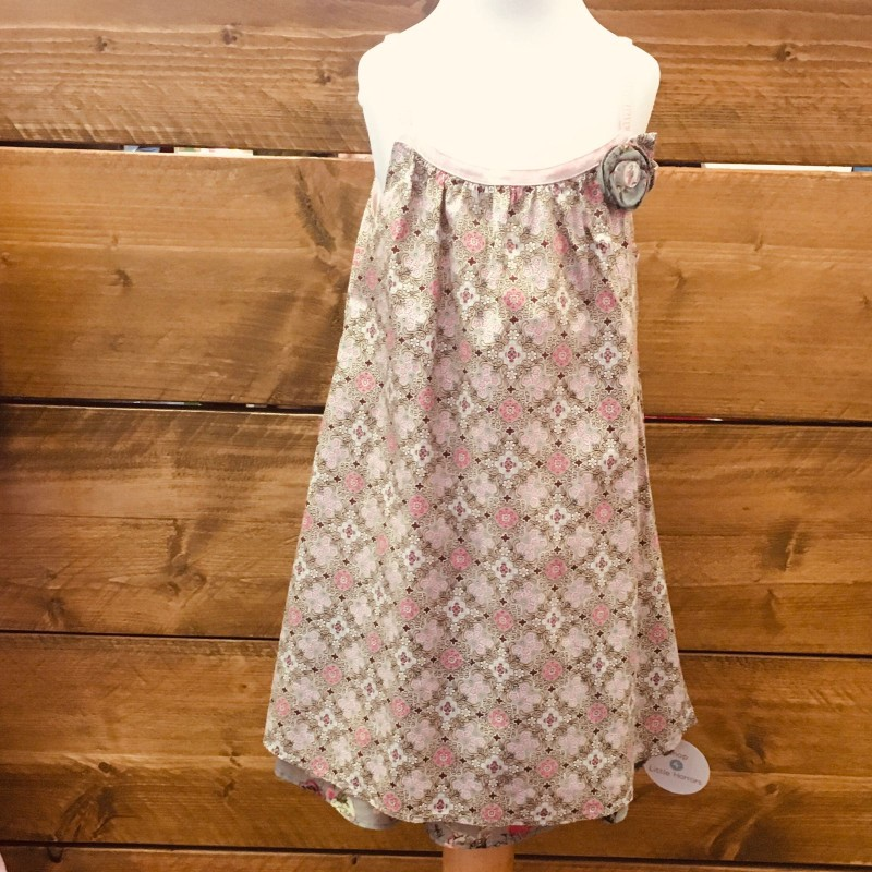 KENZO KIDS SUMMER DRESS BROWN/PINK 5YRS