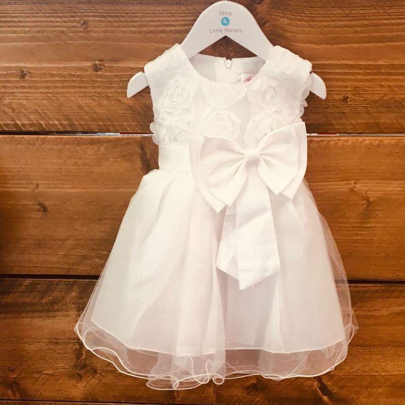 AI MENG BABY BRIDESMAID/PARTY WHITE DRESS BNWT 3-6M