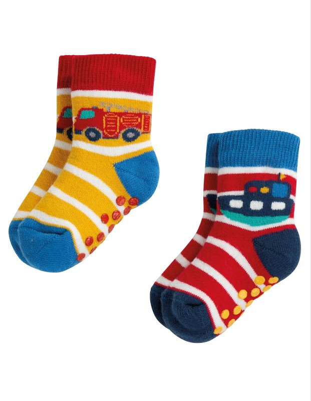 Frugi Grippy Socks, 2pk Transport