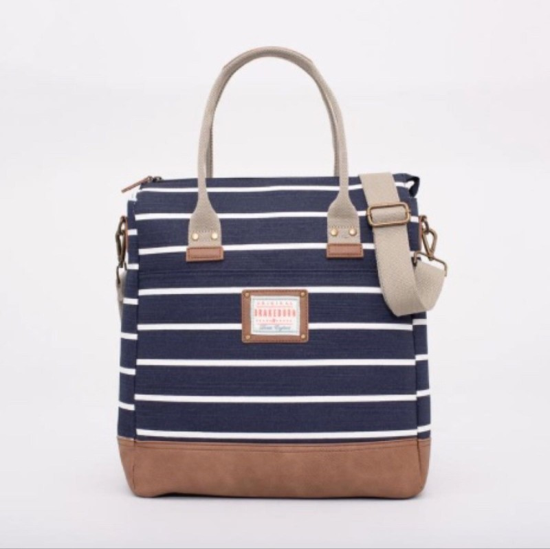 Brakeburn Stripe Shopper - Navy