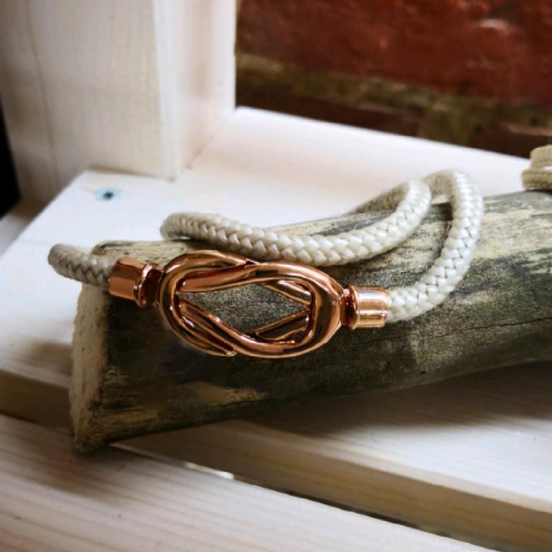 Fischereidesign  - Armband Achterknoten Stoff