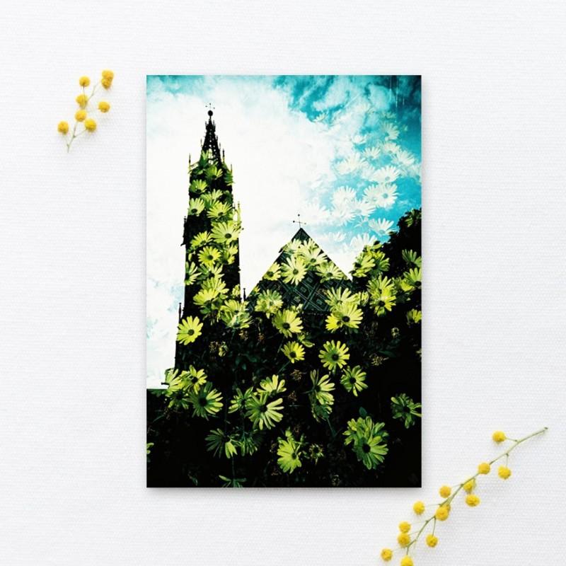 Lomoherz - Postkarte Blumendom