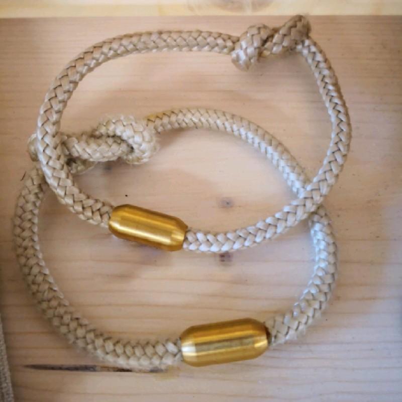 Fischereidesign - Armband dünn mit Edelstahlverschluss und Knoten