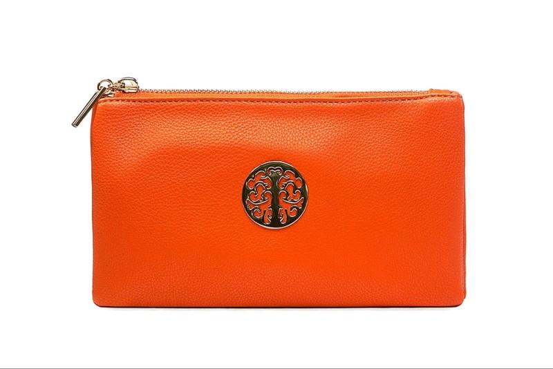 Emblem Cross Body/Wristlet Purse (Large 25x15cm) - Orange