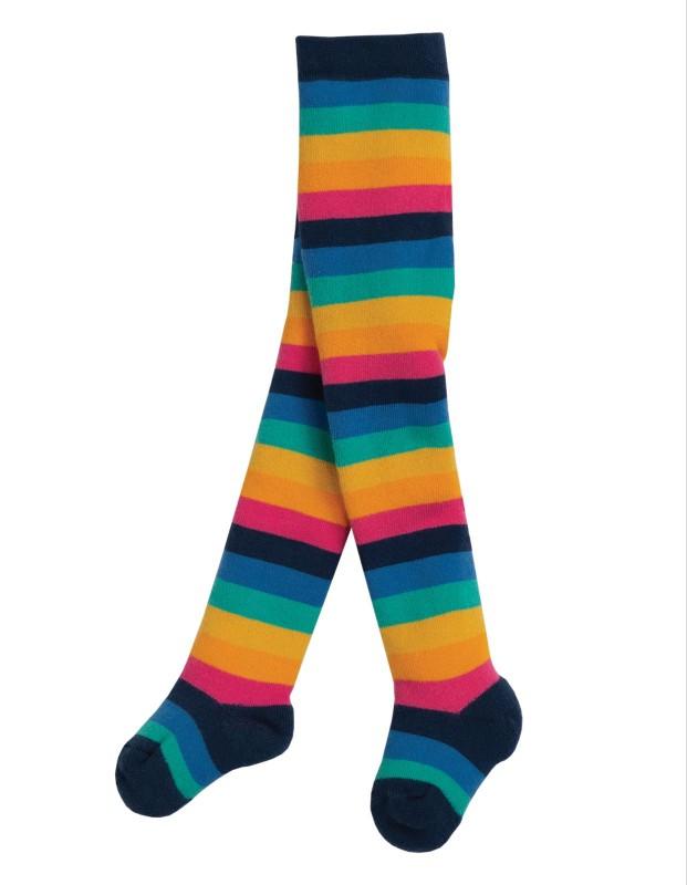 Frugi Toasty Tights, Rainbow Stripe