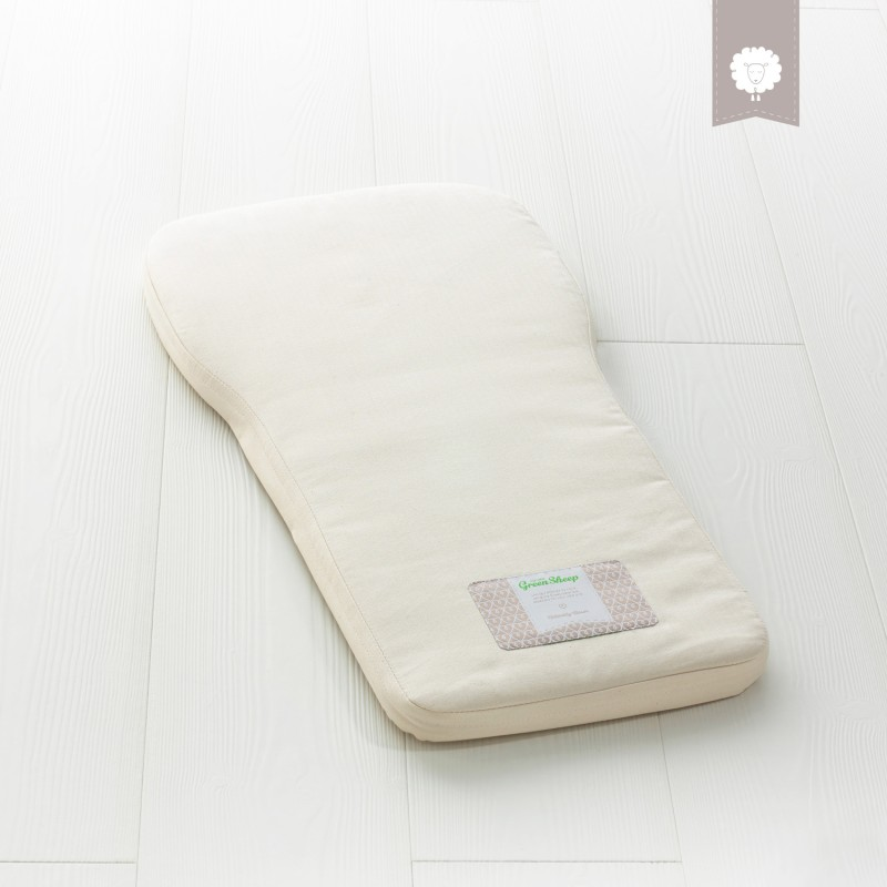 The Little Green Sheep Natural Carrycot Mattress - To Fit Bugaboo Buffalo Only