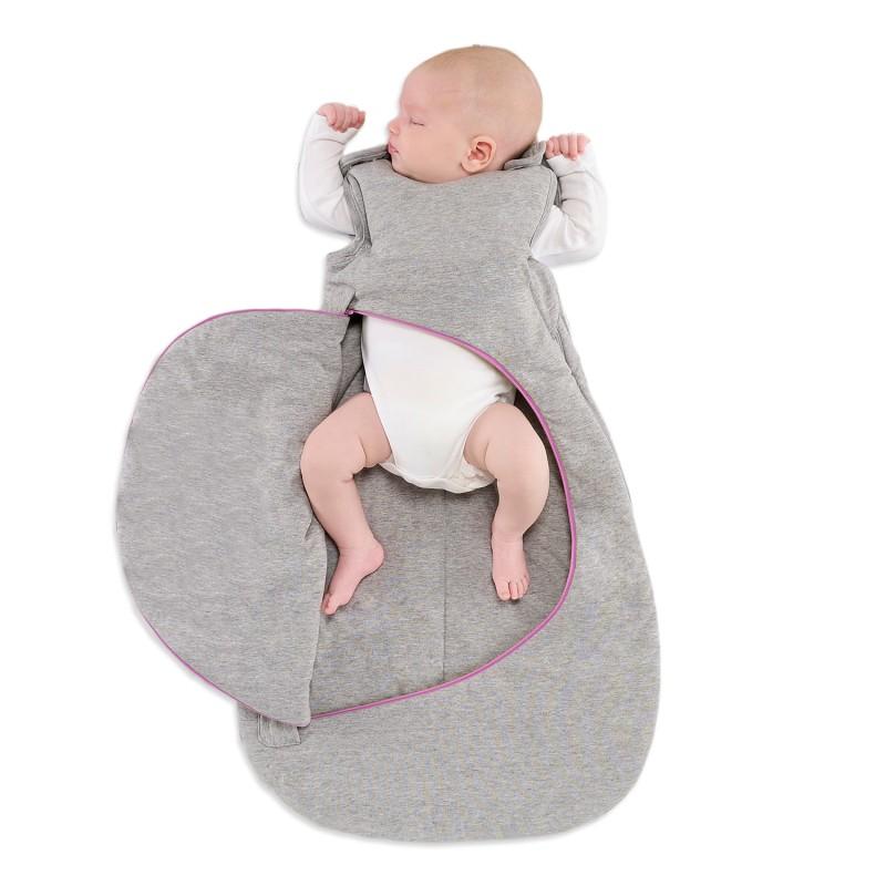SnuzPouch Sleeping Bag Grey Pop Pink