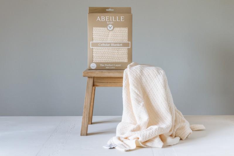 Abeille Cellular blanket - Bufftail (Cream)