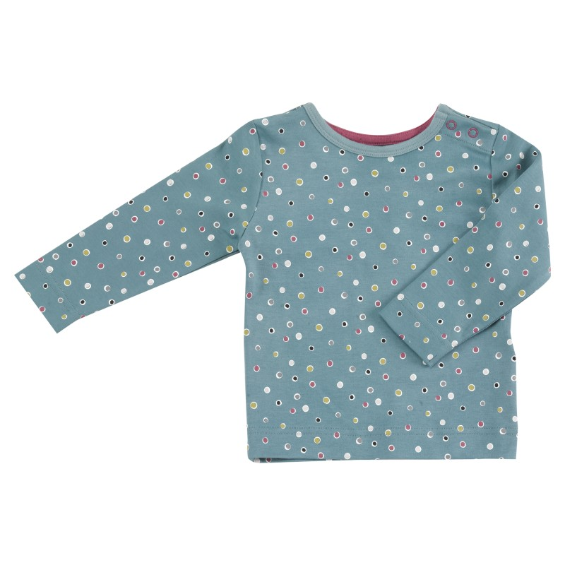 Pigeon - Long sleeve t-shirt - spots on blue 4-5 years