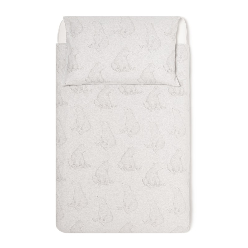 The Little Green Sheep Wild Cotton Organic Cot Bed Duvet Cover Set - Bear