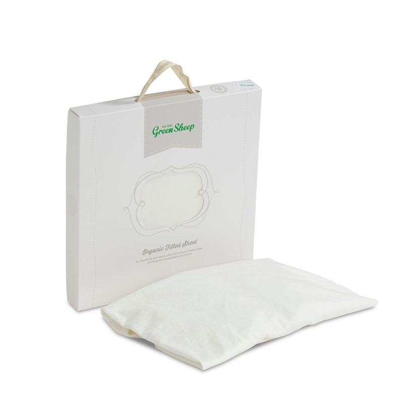 The Little Green Sheep Organic Cotton Stokke/Leander Cot Fitted Sheet