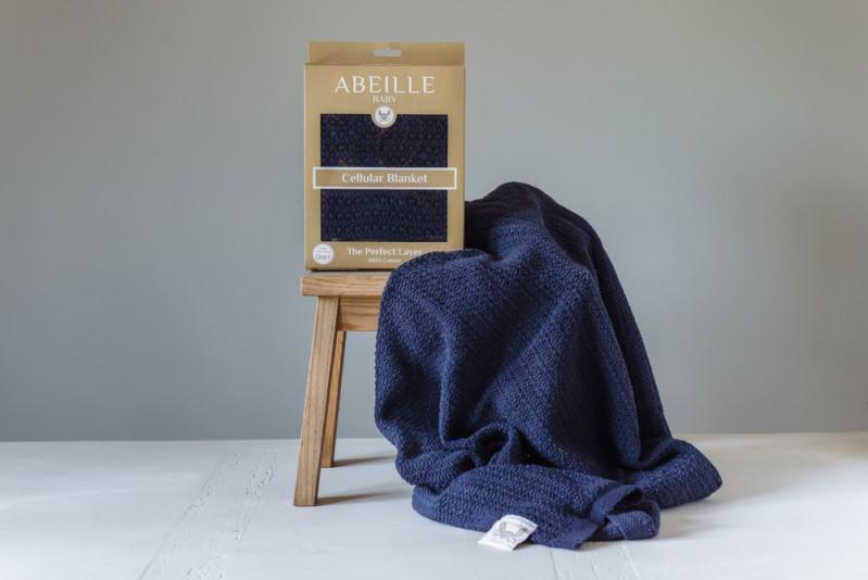 Abeille Cellular Blanket - Gypsy (Navy)