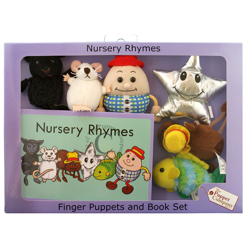 Finger Puppets and Book Set - Nursery Rhymes