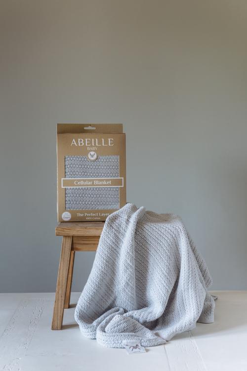 Abeille Cellular blanket - Forest (Grey)