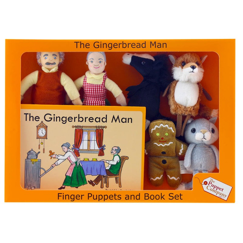 Finger Puppets and Book Set - The Gingerbread Man