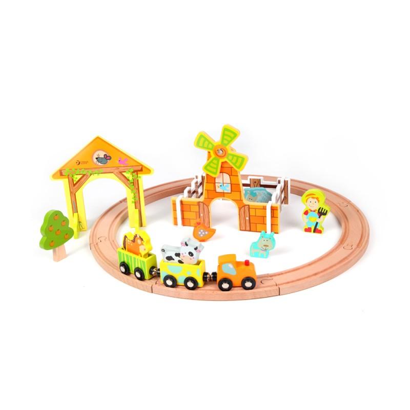 classic world - farm train set