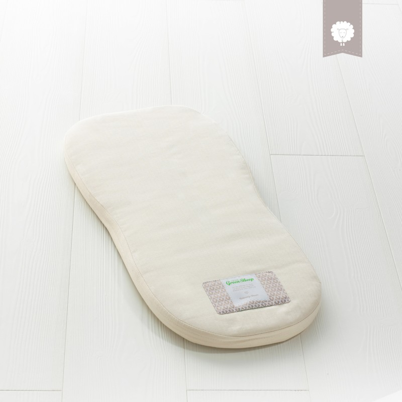 The Little Green Sheep Natural Carrycot Mattress - To Fit Bugaboo Bee 3 Only