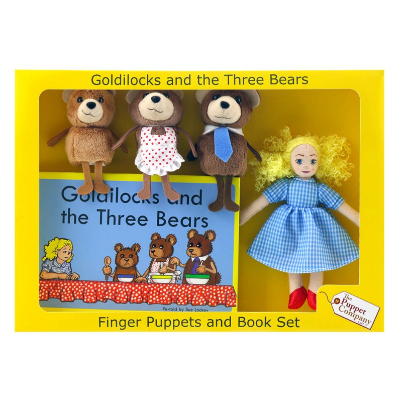 Finger Puppets and Book Set - Goldilocks and the Three Bears