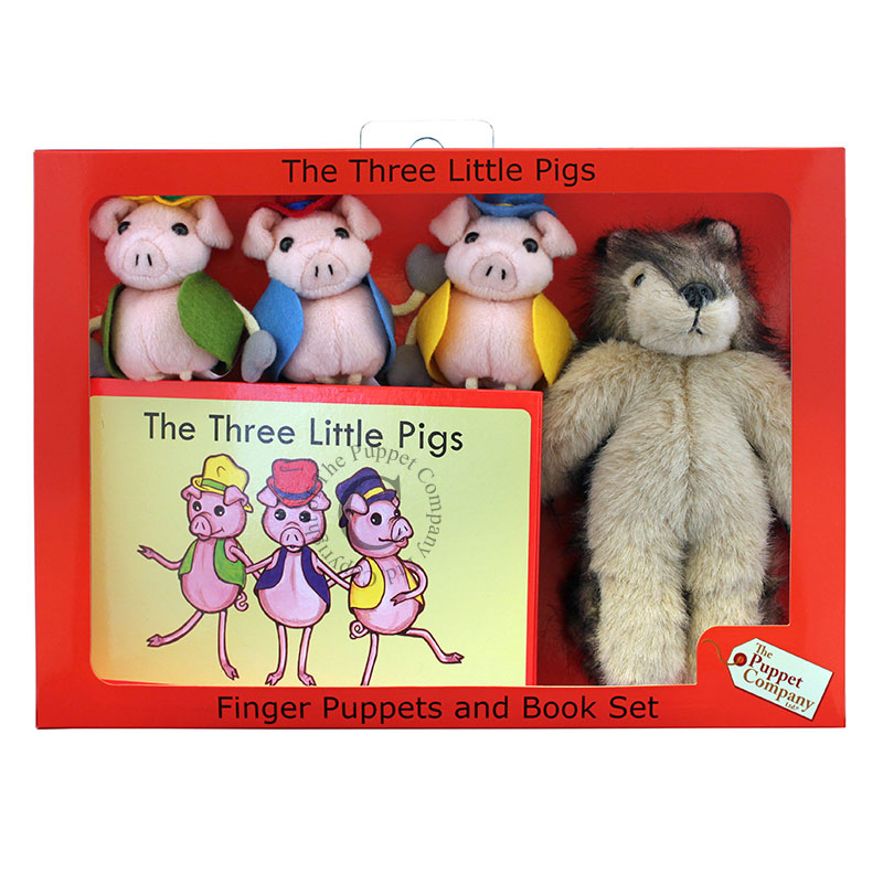 Finger Puppets and Book Set - The Three Little Pigs