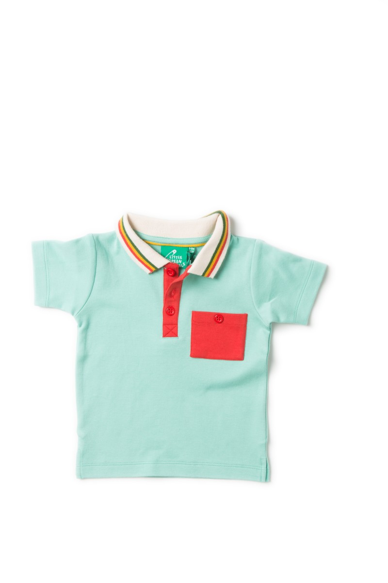 LGR pale turquoise polo