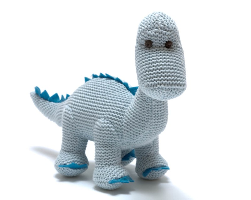 Best years knitted organic cotton diplodocus - Pastal Blue