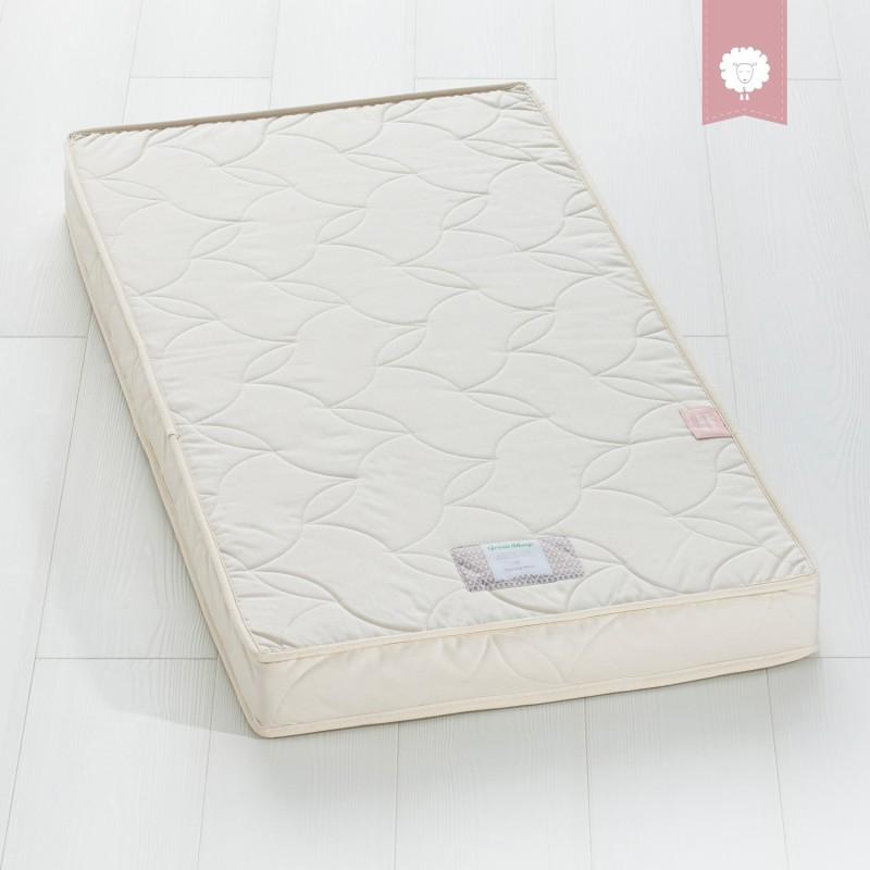 The Little Green Sheep Natural Twist 69x139 M&P 400 Cot Bed Mattress