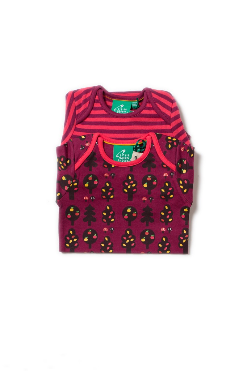 LGR - Autumn forest two pack baby body set