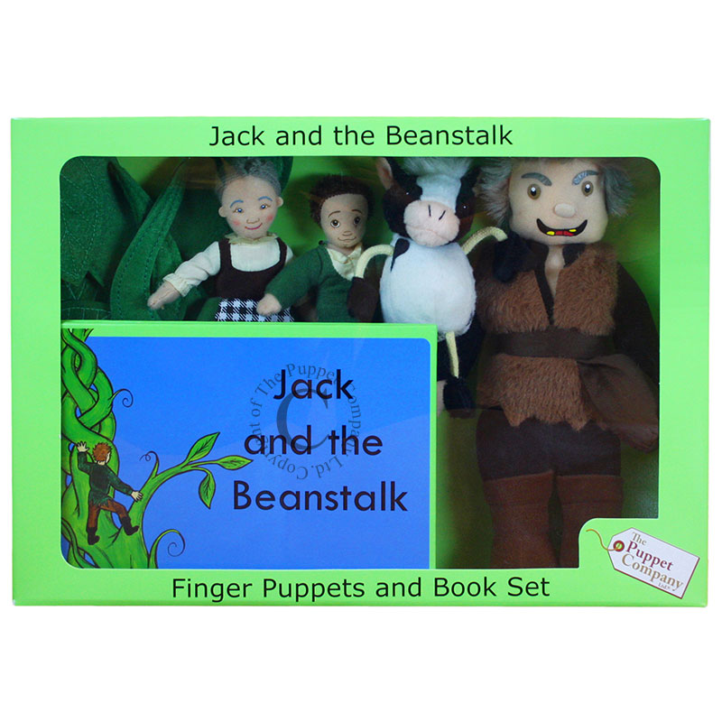Finger Puppets and Book Set - Jack and the Beanstalk