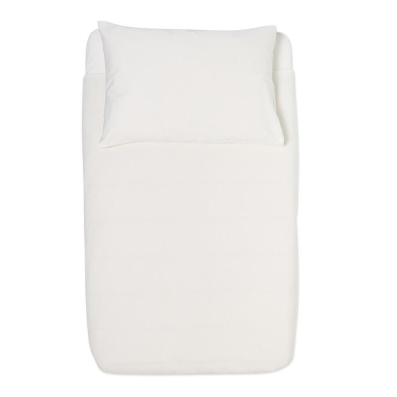 The Little Green Sheep Organic Duvet & Pillow Cover - White