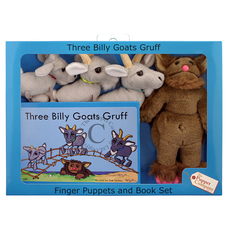 Finger Puppets and Book Set - Three Billy Goat Gruff