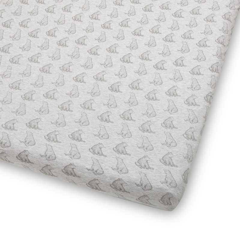 The Little Green Sheep Wild Cotton Organic Cot & Cot Bed Fitted Sheet - Bear