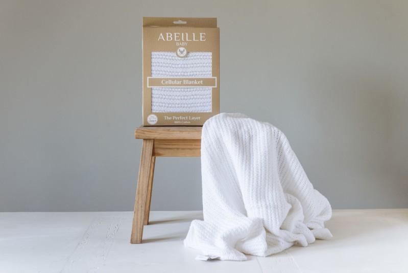 Abeille Cellular blanket - Whitetail (White)