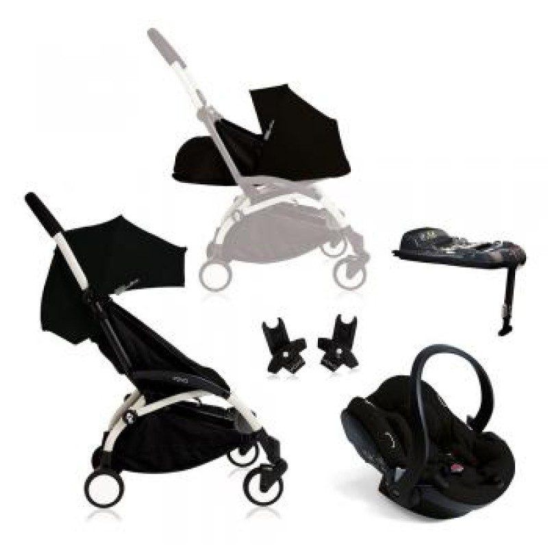 Complete yoyo+ including car seat base and car seat with adapters