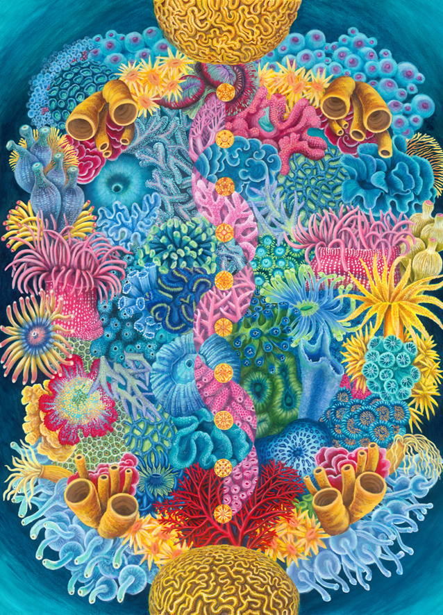 Coral Chorus - reproduced painting
