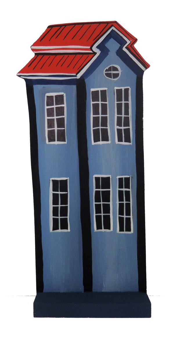 Hus högt / Blue house