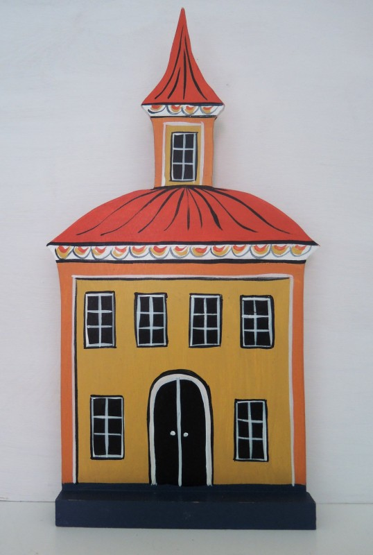 Hus med torn stort / Yellow house with a tower