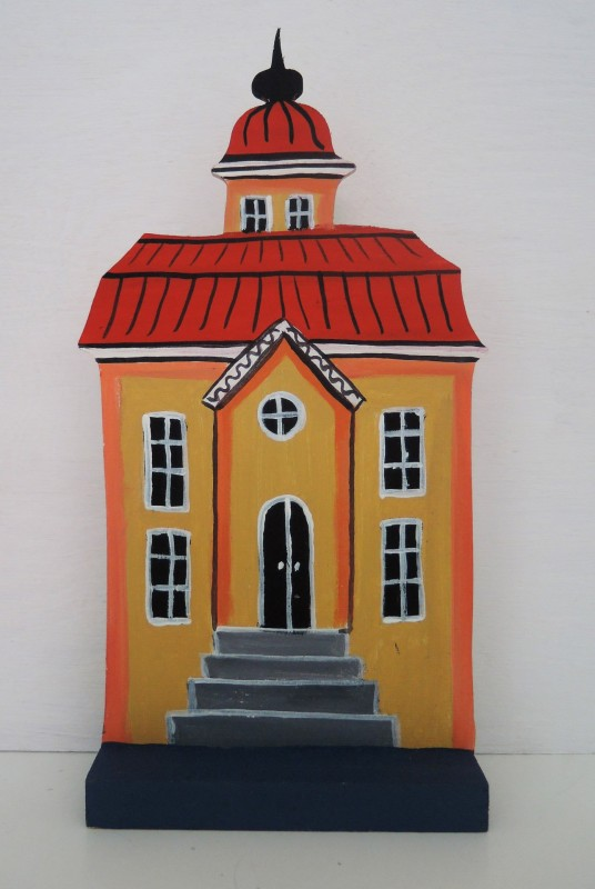 Hus med trappa / yellow house with stairs