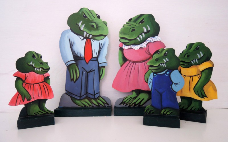 Krokodilfamiljen